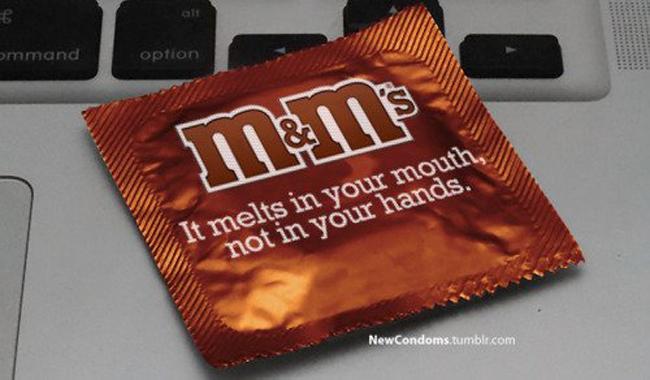 m&m Condones Marca Logos