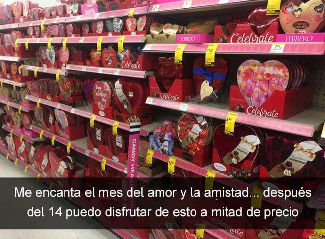 snap de chocolates en las tiendas