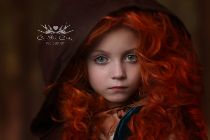 merida valiente Cosplay Photoshop Disney Niña