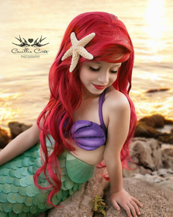 ariel sirenita Cosplay Photoshop Disney Niña