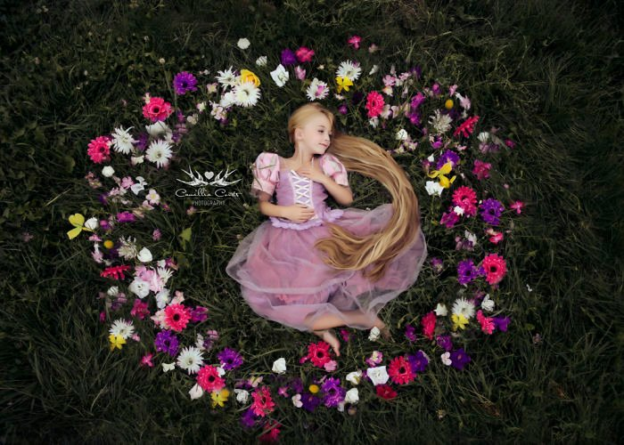 rapunzel Cosplay Photoshop Disney Niña
