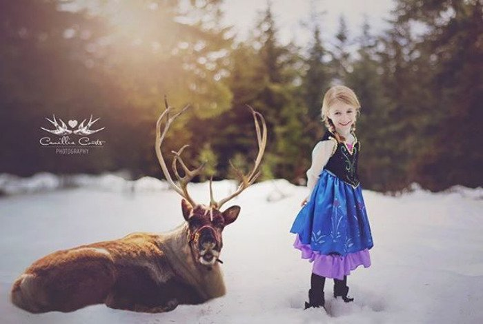 anna frozen Cosplay Photoshop Disney Niña
