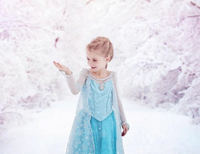 Cosplay Photoshop Disney Niña elsa frozen