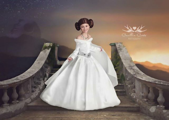 Cosplay Photoshop Disney Niña leia princesa