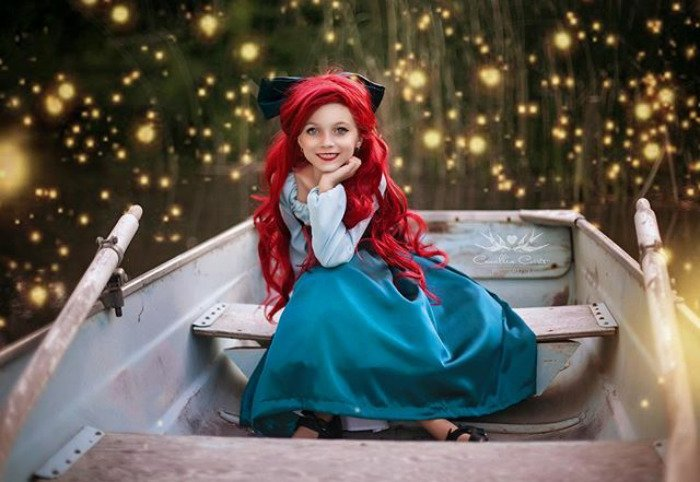 ariel sirenita barco Cosplay Photoshop Disney Niña