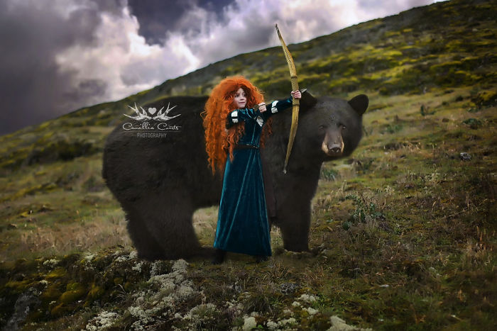 valiente oso Cosplay Photoshop Disney Niña