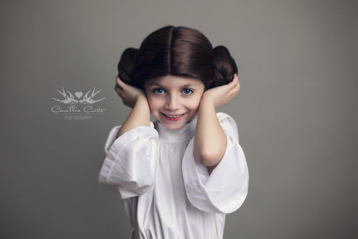 princesa leia peinado Cosplay Photoshop Disney Niña
