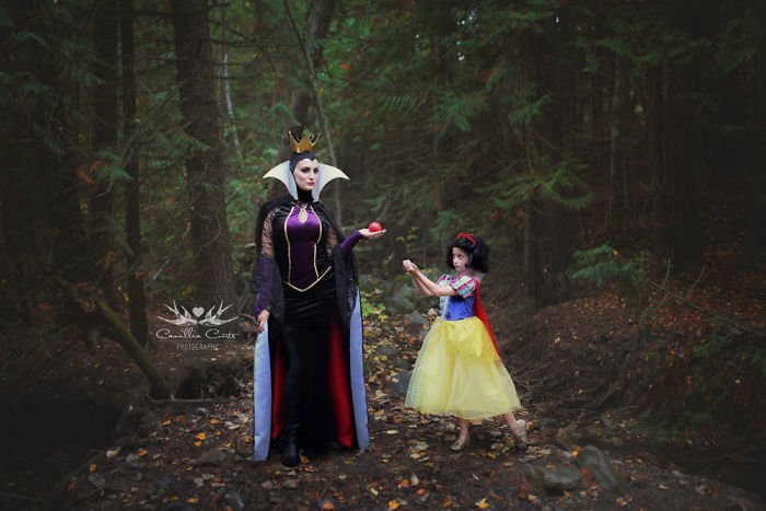 blancanieves y madrastra manzana Cosplay Photoshop Disney Niña