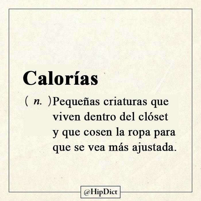 Diccionadio honesto calorias