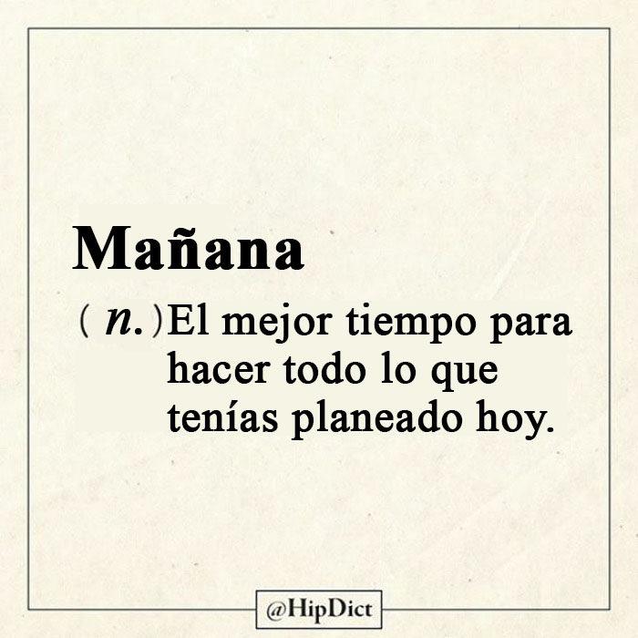 Diccionario honesto Mañana