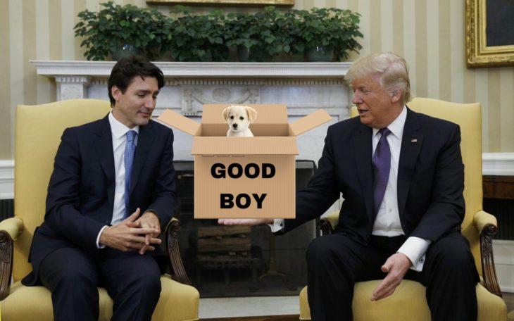 Batalla Photoshop Donald Trump y el primer ministro de Canadá