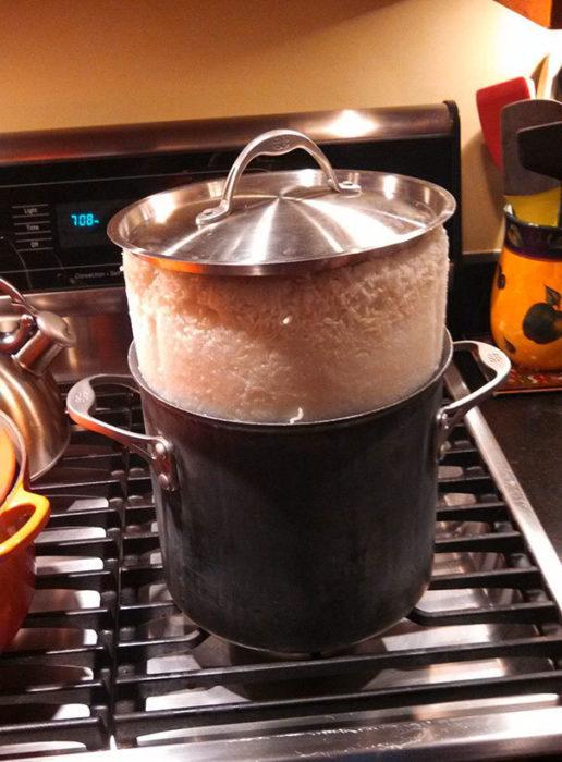 arroz quemado