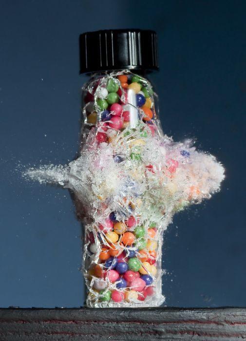 frasco colores Fotografías tomadas en el momento exacto disparo