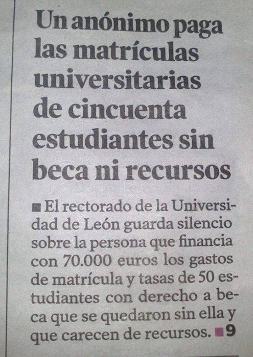 foto periódico paga matriculas universitarias