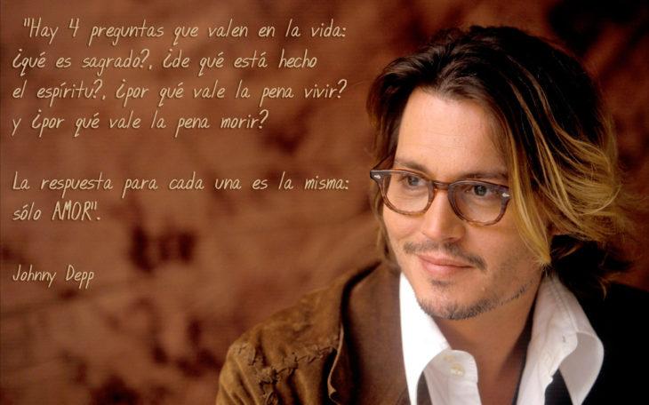 Frases Johnny Depp, 4 preguntas