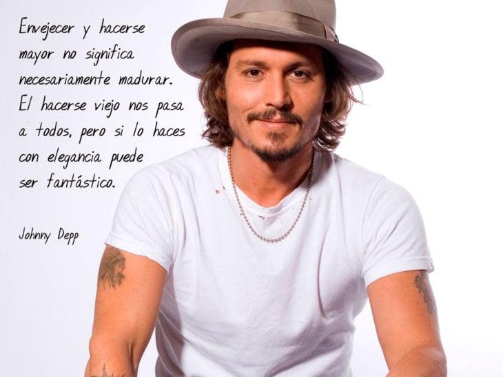 Frases Johnny Depp, madurar