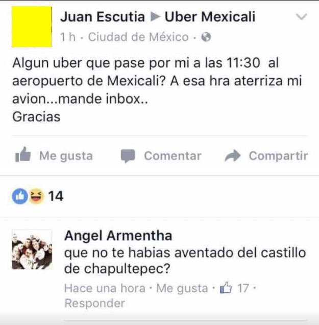 uber meme facebook