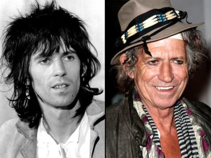antes y después de keith richards
