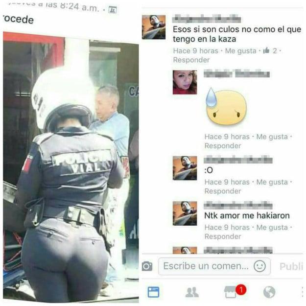 Policía sexy comentario me hackiaron