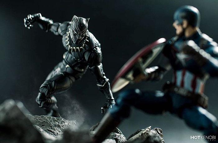 Figuras de acción personajes fotos Hot Kenobi batalla