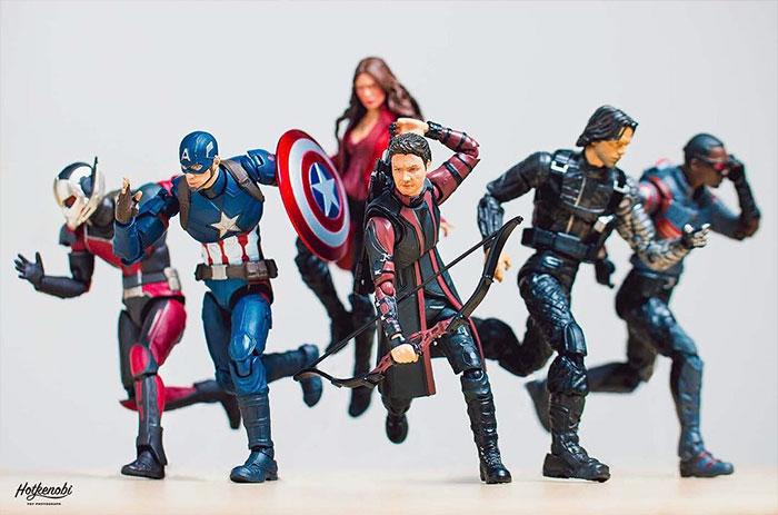 Figuras de acción personajes fotos Hot Kenobi civil war