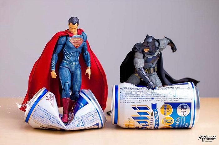 Figuras de acción personajes fotos Hot Kenobi lata dc batman y superman