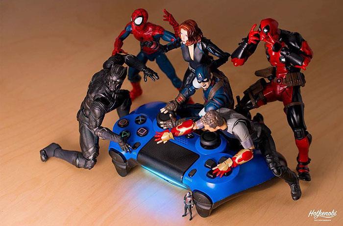 Figuras de acción personajes fotos Hot Kenobi control remoto