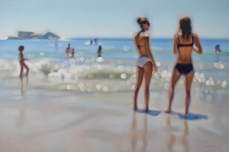 Cómo ve alguien con miopia - chicas en la playa