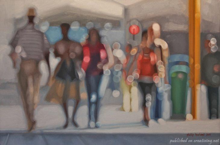Cómo ve alguien con miopia - personas en la calle