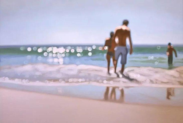 Cómo ve alguien con miopia - un día en la playa
