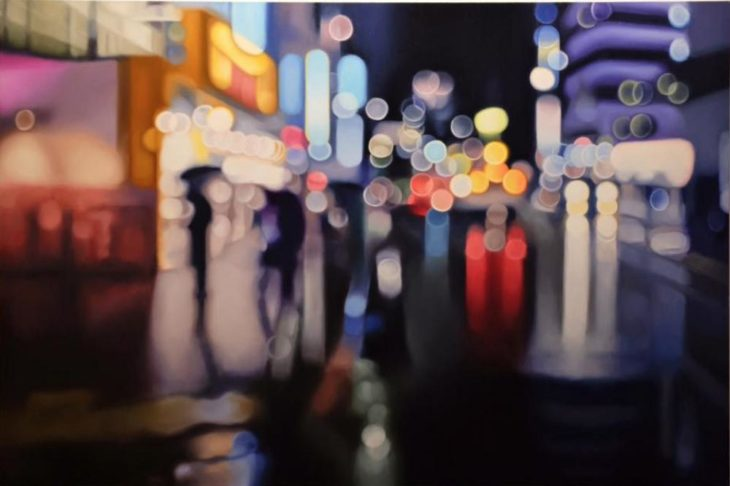 Cómo ve alguien con miopia - luces en la noche