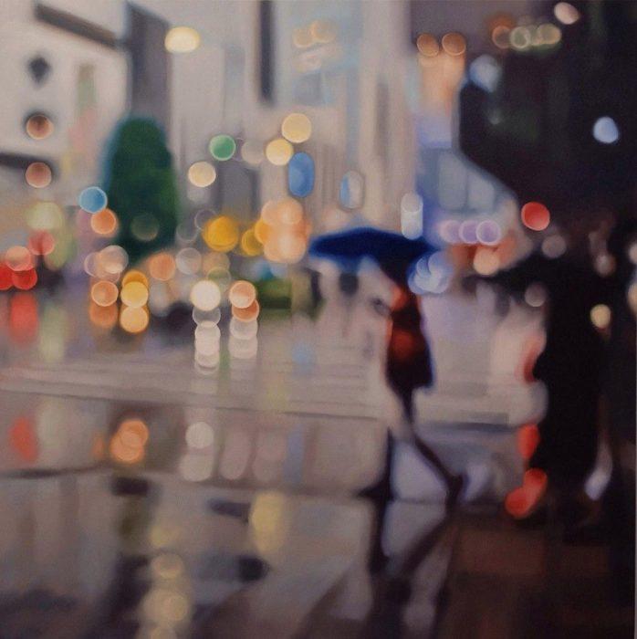 Cómo ve alguien con miopia - un día lluvioso