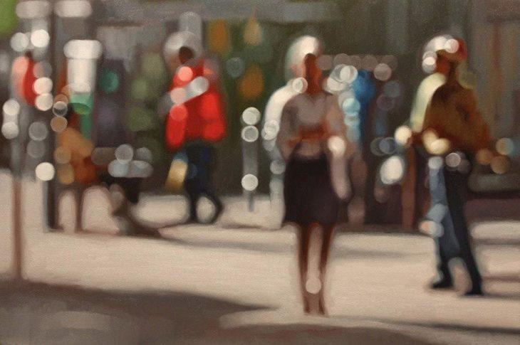 Cómo ve alguien con miopia - caminando por la calle