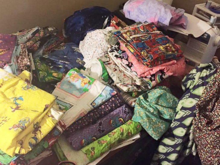 montones de ropa