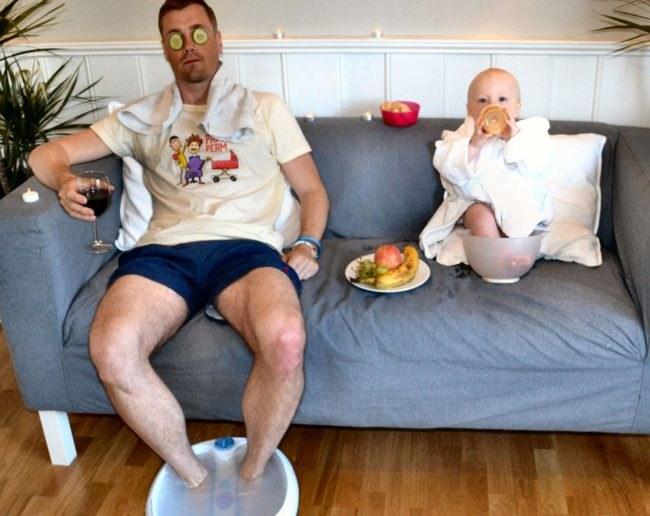Papa trolea hijo photoshop 8