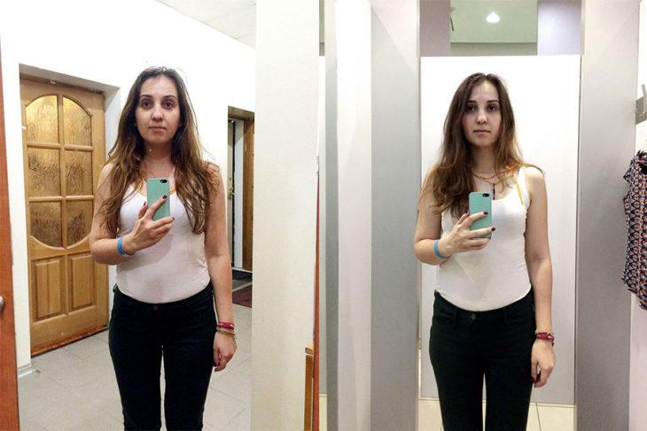 Tienda de ropa probadores espejo reserved