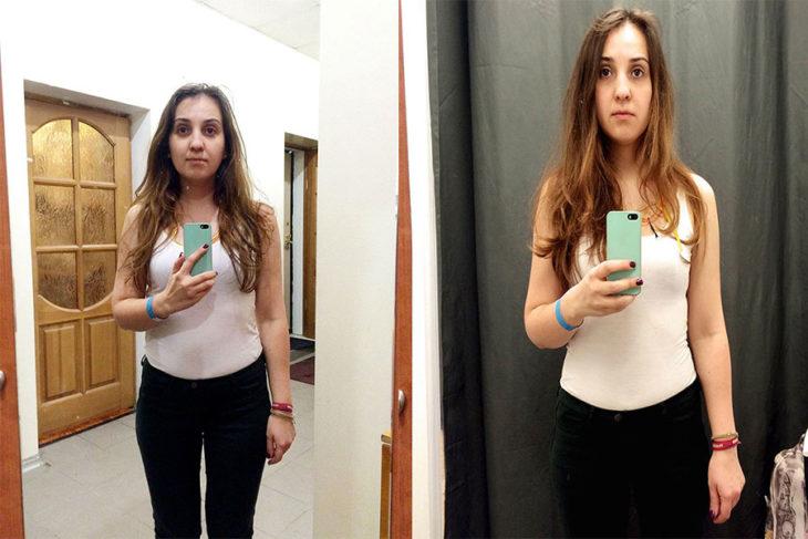 Tienda de ropa probadores espejo sela
