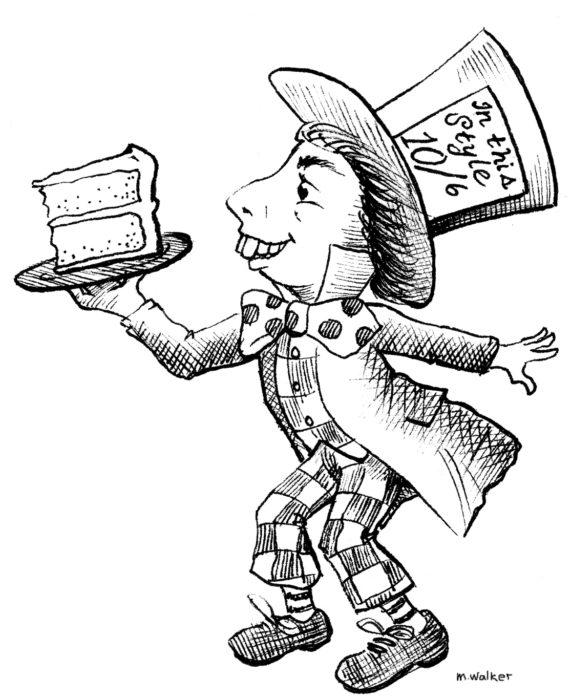 sombrero loco ilustracion pastel