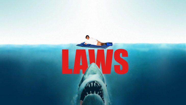 PS trump y abajo un tiburón