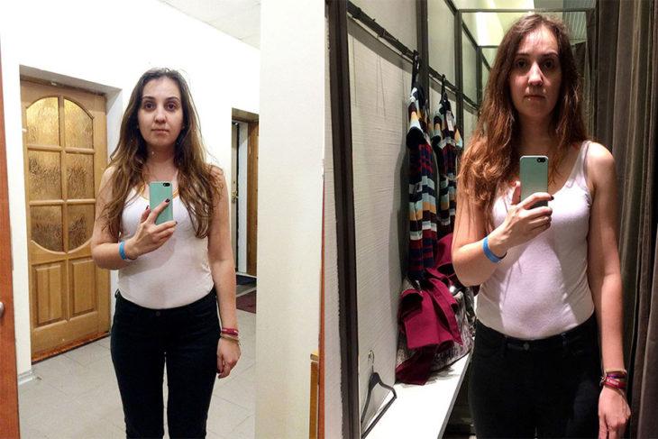 Tienda de ropa probadores espejo zara