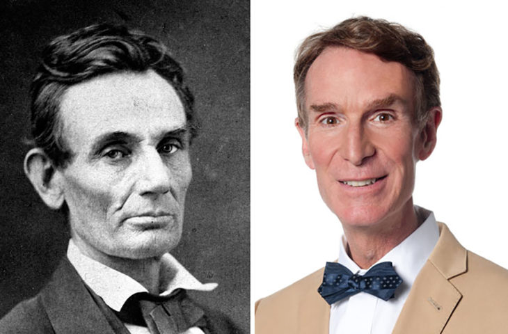 Abraham Lincoln y Bill Nye