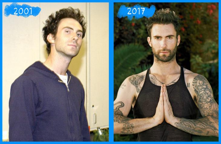 adam levine antes y después