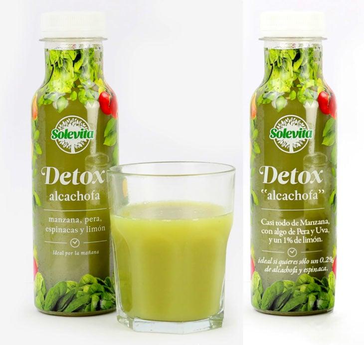etiqueta real bebida de alcachofa