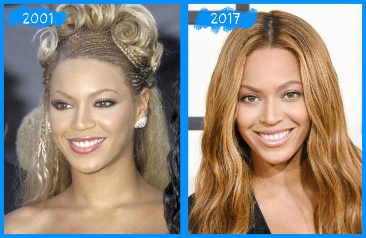 beyonce antes y después