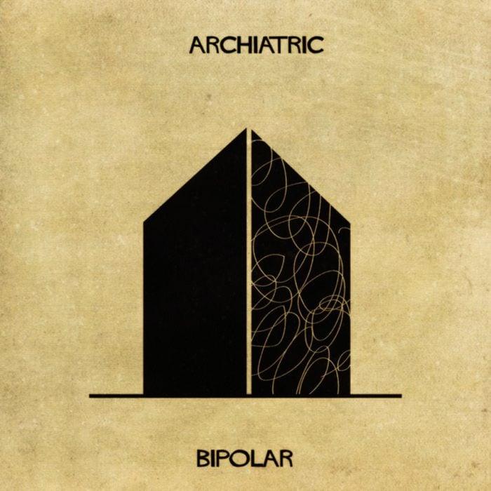 bipolaridad representada en forma de casa