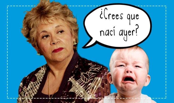 mujer enojada y bebé llorando