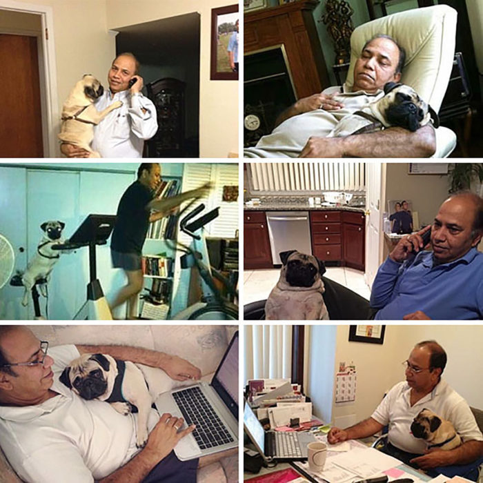 fotos de hombre conviviendo con su mascota
