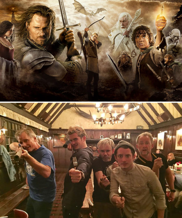 actores de The Lord of the Rings - 2001 vs 2017