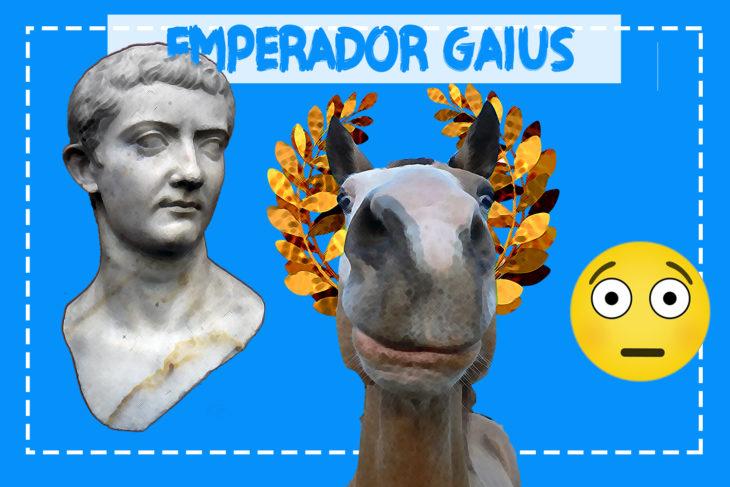 emperador gaius y su caballo
