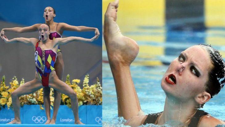 chica en la alberca olimpiadas